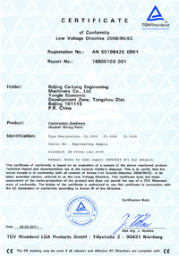 Сертификат Low Voltage Directive 2006/95/EC